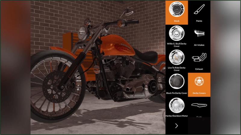 Harley-Davidson-mobile-app-for-designing-a-custom-motorbike