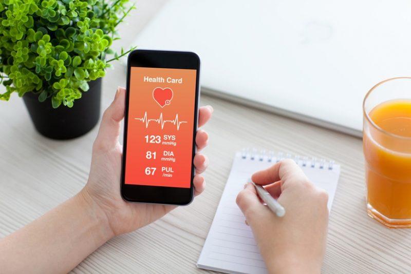 e-health-app-on-smartphone-screen-iot-ideas-for-e-health