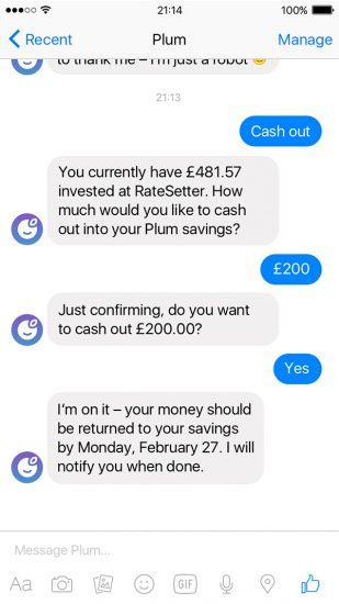 plum-personal-finance-chatbot-app-screen